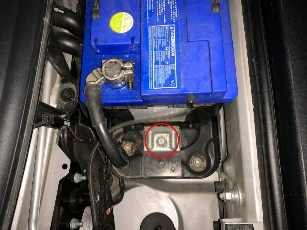 CaymanHQ - Best Battery for Your Porsche Cayman - Battery Hold Down Clamp